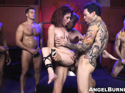 Lil punk stunner gets all of her fuckholes packed with massive chisels