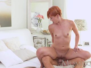 MOM Redhead Milf gets a good fucking before creampie from stud