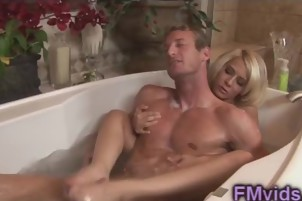 Gorgeous blonde Madison Ivy takes a bath