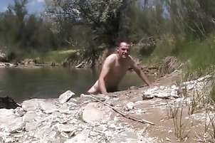 Kevin Yardley fucks soft river mud all summer long and cums!