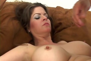 Mature Mom Huge Tits Fucks Younger Fat Cock