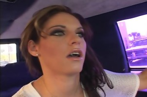 redhead gets fucked from the car to the office