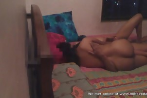 Hot Indian MILF from Milfsexdating Net fucks and rides cock