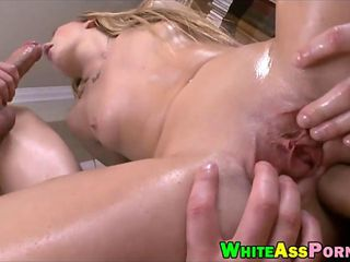 Big ass babe AJ Applegate double stuffed in her twat and muff