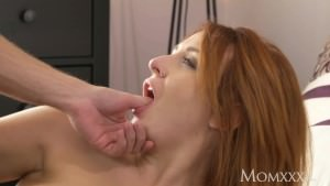 MOM Russian redhead in heels craves a hard fuck after deepthroat blowjob