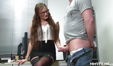 Holly Hunter German Office Anal Pounding