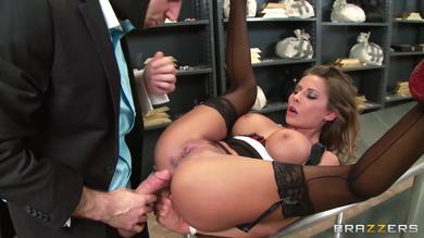Madison Ivy is just a whore secretary