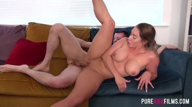 Pure XXX Films - Busty sis enjoys a kinky sex game with her step-brother
