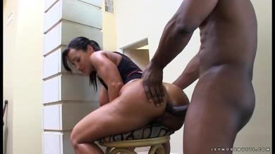 Lisa Ann ass-fucked on a chair