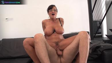 Stunning big ass and huge titted Milf Lisa Ann fucks hard in Office