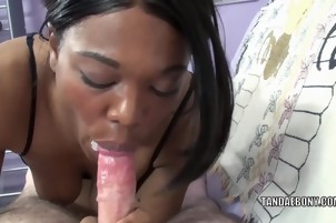 Black housewife Kelly Stylz does some POV cock sucking